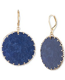 Gold-Tone & Colored Disc Drop Earrings