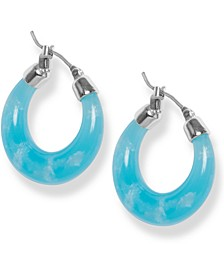 Colored Hoop Earrings