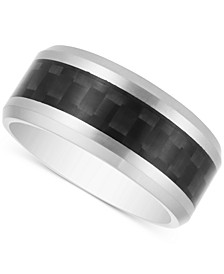 Men's Woven-Look Band in Carbon Fiber & Tantalum