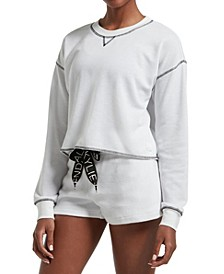 Women's Oversized Long Sleeve Cropped Tee