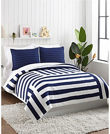 Block Stripe 3-Piece King Quilt Set