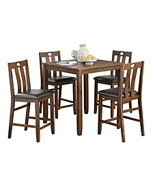 Homelegance Neunan Counter Height Dining Room Table and Chair, Set of 5