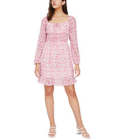 Lucy Paris Floral-Print Smocked Dress