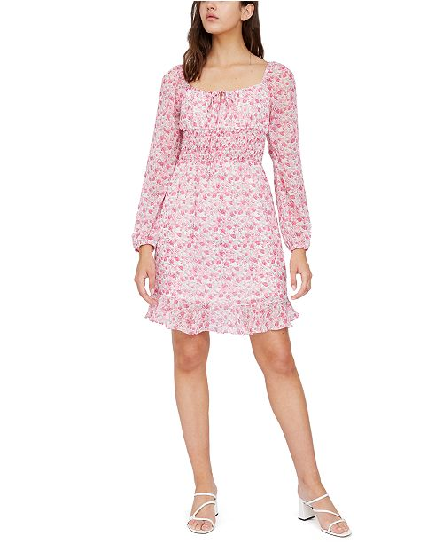 Lucy Paris Floral-Print Smocked Dress
