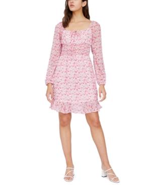 Floral-Print Smocked Dress