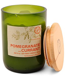 Eco Green Glass Candle - Pomegranate & Currant, 8-oz.