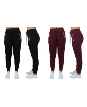 Women's Loose Fit Fleece Joggers with Zipper Pockets