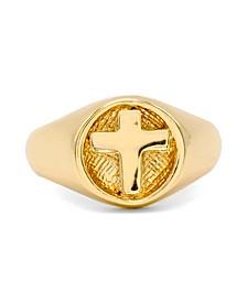 Cross Signet Ring