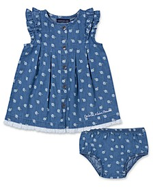 Baby Girls 2-Pc. Cotton Chambray Tunic & Bloomers Set