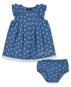 Calvin Klein Baby Girls 2-Pc. Cotton Chambray Tunic & Bloomers Set
