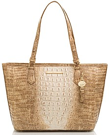 Medium Asher Praline Ombre Melbourne Embossed Leather Tote