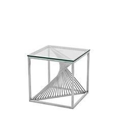 Art Deco Glass Top Lamp Table