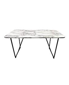 Helga Marbleized Laminate Dining Table