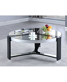 Round Cocktail Table with Mirror Top