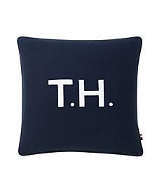 "TH Initials Decorative Pillow, 18"" x 18"""