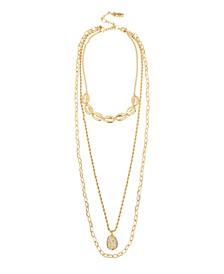 Puka Shell Gold-Tone Layered Necklace