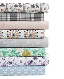 Sander Home Fashion 3 Piece Printed Microfiber Sheet Set