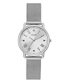 Silver-Tone Diamond Mesh Watch 34mm