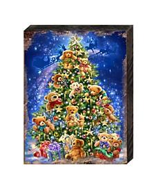 by Dona Gelsinger Teddy Bear Tree Wooden Block