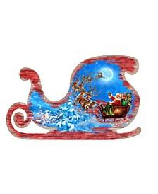 by Dona Gelsinger Santa-Magical-Flight Ornament, Set of 2