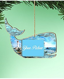 Whale Picture Frame Ornament Set of 2