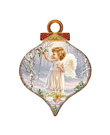 by Dona Gelsinger Little-Winter-Blessings Ornament and Drop Ornament, Set of 2 Each