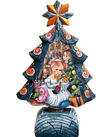 Hand Painted Nutcracker Tree Figurine