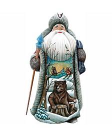 Woodcarved Hand Painted Wilderness Bears Figurine