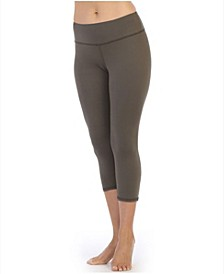 High Waist Three-Fourth Compression Leggings