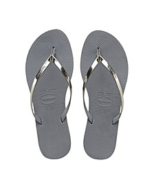Women's You Metallic Flip Flops