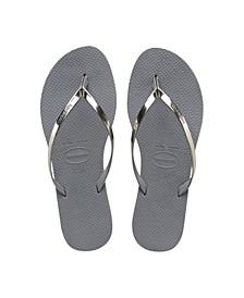 Women's You Metallic Flip Flop Sandals