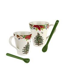CLOSEOUT! Christmas Tree Annual Mug and Spoon Set