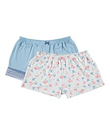 Flora Rylee 2-Pk Pajama Shorts
