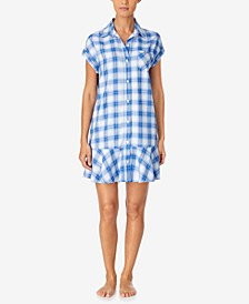 Plaid Sleepshirt Nightgown