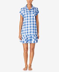 Lauren Ralph Lauren Plaid Sleepshirt Nightgown