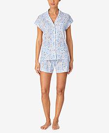 Lauren Ralph Lauren Printed Boxer Shorts Pajama Set