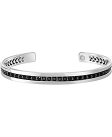 EFFY® Black Sapphire Bangle Bracelet (4-7/8 ct. t.w.) in Sterling Silver