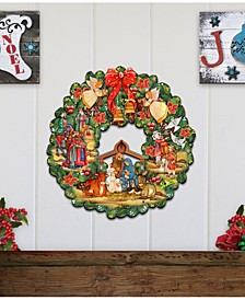 Nativity Wreath Ornament