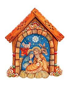 Village Nativity Wooden Decor