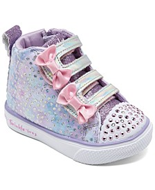 Toddler Girls Twinkle Toes Unicorn Bliss High Top Light-Up Stay-Put Closure Casual Sneakers from Finish Line
