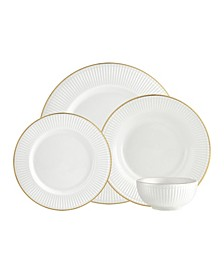 Republique 16 Piece Banded Dinnerware Set, Service for 4