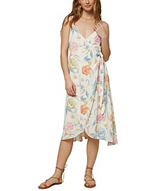 Juniors' Osiris Floral-Print Midi Dress