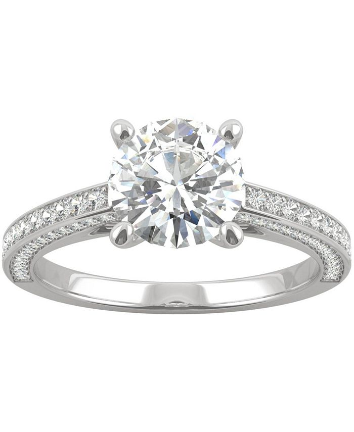 Charles & Colvard - Moissanite Engagement Ring (2-1/10 ct. t.w. DEW) in 14k White Gold