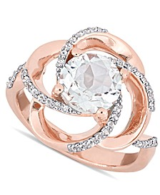 Delmar White Topaz Swirl Statement Ring (2-3/5 ct. t.w.) in 18k Gold-Plated Sterling Silver