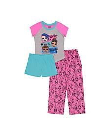 Big Girl 3 Piece Pajama Set
