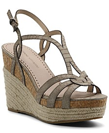 Women's Clutch Platform Wedge Sandals