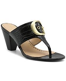 Women's Polka Mid-Heel Thong Sandals