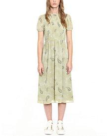 Michael Michael Kors Pintucked Midi Dress