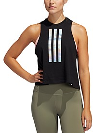 Women's Cropped Graphic Tank Top