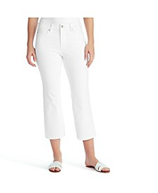 Women's Mid Rise Crop Kick Jeans